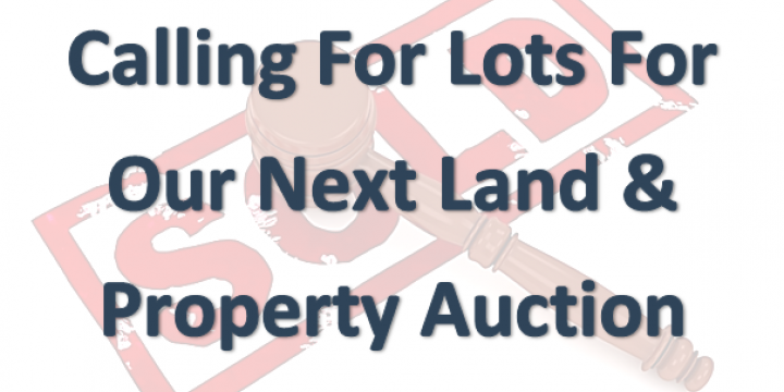 Calling For Lots For Our Next Coming Auction