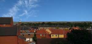 Views over surrounding land and estuary